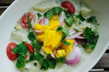 Roasted Garlic & Poblano White Fish Coconut Ceviche