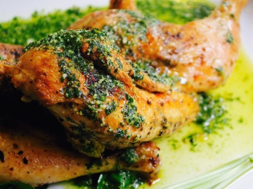 Roast Chicken with Lemon Pesto