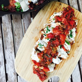 Roasted Red Pepper Chicken Parmigiana