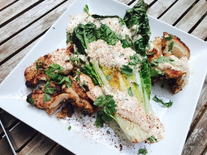 Grilled Chipotle Chicken Caesar Salad