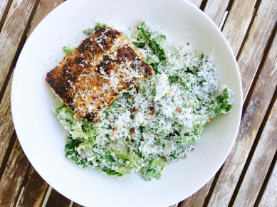 Grilled Mahi Mahi Caesar Salad