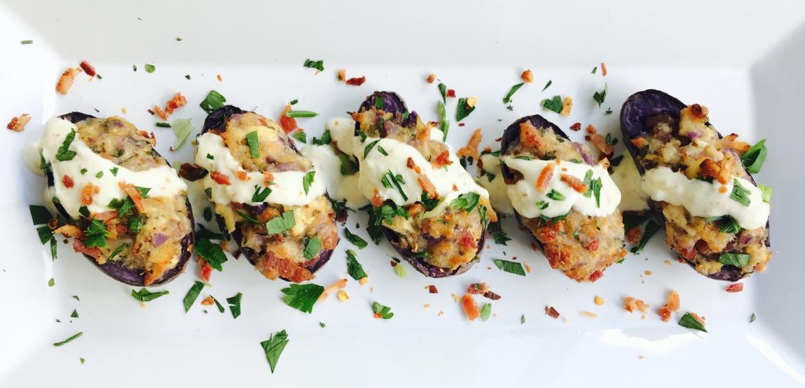 Loaded Purple Fingerling Potatoes