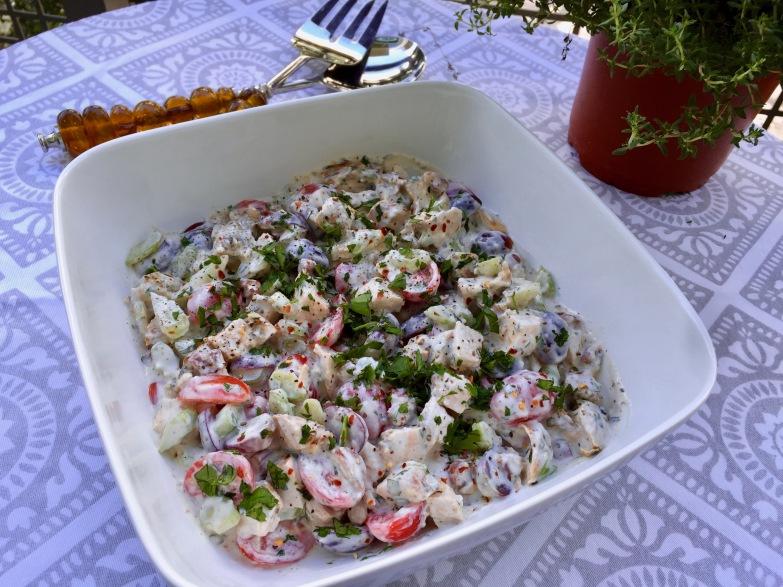 Grilled Balsamic Chicken Salad a la Waldorf